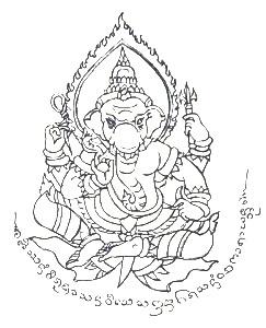 Sak-Yant-Ganesha
