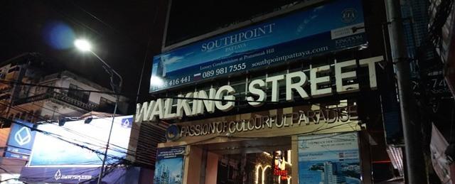 eingang walkingstreet pattaya