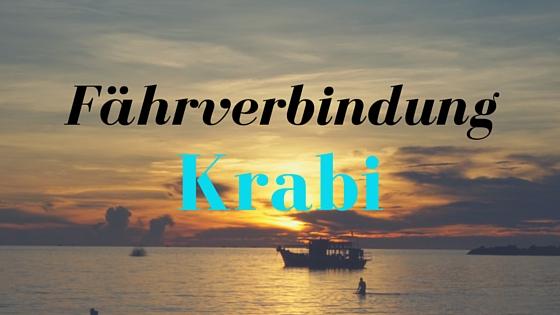 Fährverbindungen Krabi